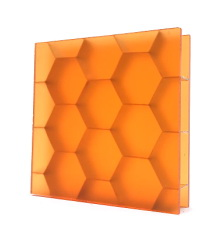Bencore Hexaben Large Orange Satin